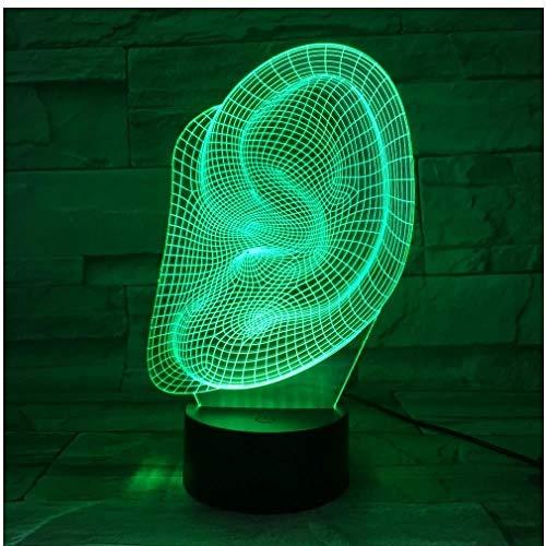 CSXM Tisch LampAbstract Ohr Form 3D LED Lampe Schreibtisch Schreibtischlampe Halloween Dekoration Kinder Urlaub Ändern Lava Lampe Drop Ship -