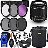 Canon EF-S 18-55mm F/3.5-5.6 Is Mark II Zoom Lens For Canon DSLR Cameras (International Version) + 6pc Filter Kit (ND2, ND4, ND8, UV,FL-D,CPL) + 8pc Bundle Accessory Kit W/HeroFiber Cleaning Cloth