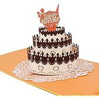 Omshanti Tarjeta de Felicitación Pop Up 3D | Regalo Único para Ocasiones Especiales | Diseño y Construcción de Primera Calidad | Carta Alternativa Estilizada para Cumpleaños, Agradecimiento, Fiesta