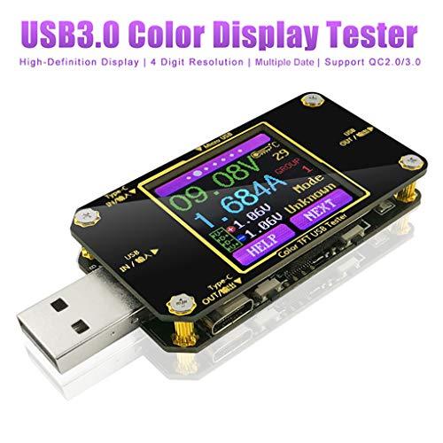 Innovateking-EU Tester di Tensione USB e misuratore di Corrente voltometro Multimetro Digitale Type-C