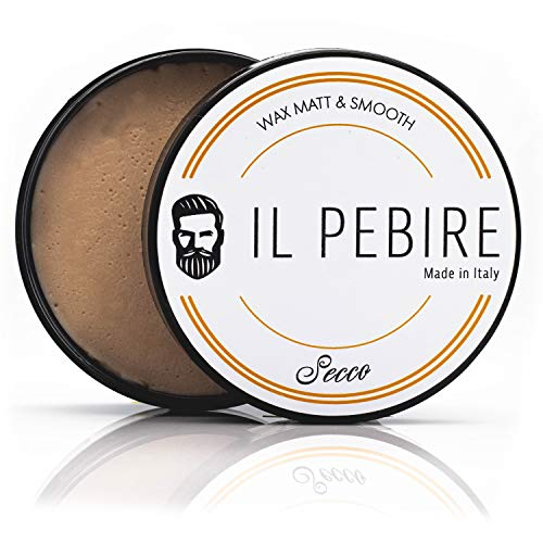 IL PEBIRE Secco - Haarwachs extra matt & starker Halt. Komplett ohne Glanz für einen natürlichen matt Look - bestes Haarwachs für professionelles Styling - 100ml matt Wachs made in Italy