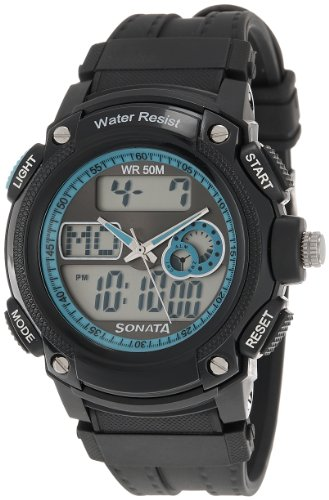 Sonata Ocean Series Analog-Digital Black Dial Men's Watch - NE7989PP01J image