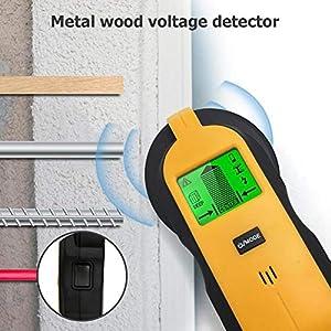 gaeruite LCD Digital Stud Finder, 3 en 1 Detector de escáner eléctrico de Pared Cable Detector de Alambre para Postes/Madera/Metal/Cables Detección