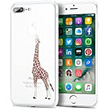 Coque iPhone 7 Plus,EnGive Ultra-mince Coque Housse Etui de protection en TPU Pour iPhone 7 Plus (Girafe)