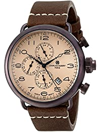 Charles-Hubert, Paris Men's 3958-N Premium Collection Analog Display Japanese Quartz Brown Watch