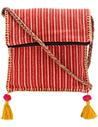 The House Of Tara Boho Chick Crossbody Bag In Handloom Fabric HTCB 042