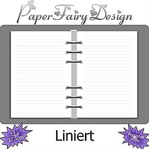 Kalendereinlagen - Personal Wide (12cm x 17.1cm) - Liniert - 120g Premium Papier