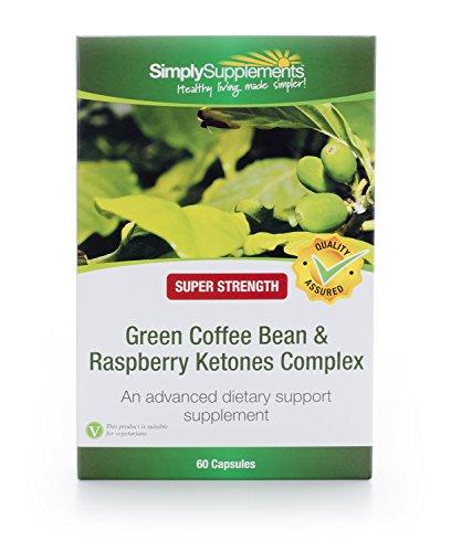 Grüne Kaffeebohne & Himbeerketon Komplex – 60 Kapseln – Versorgung für bis zu 2 Monaten – Erweiterte Unterstützung bei Bemühungen für den natürlichen Gewichtsverlust – Simply