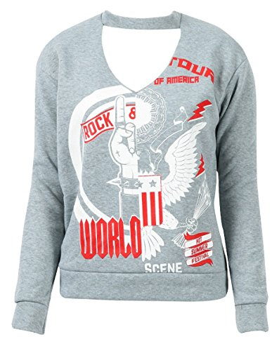 Generic - Sweat-shirt - Femme Grey Rock World