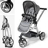 TecTake® 3 in 1 Kinderwagen Kombikinderwagen Buggy Babyjogger Reisebuggy Sportwagen Kids grau mit Moskitonetz und Regenhaube - 3