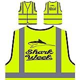 Best Semanas de tiburón - Semana De Tiburones Chaqueta de seguridad amarillo personalizado Review