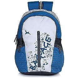 Bag-Age White Gold School Backpack (Blue)