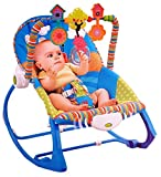 Toyshine Infant to Toddler Rocker Chair with Calming Vibrations, Metal Frame, Blue
