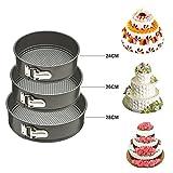#9: Kurtzy® Round Shaped Springform Non Stick Baking Pan tin for wedding Birthday cakes pie pudding desserts Molds Bakeware(set of 3)