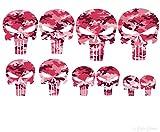 Punisher 10 x Aufkleber tarnlook camouflage PINK
