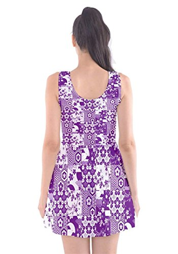 CowCow - Robe - Femme Rouge Rouge - Purple & White