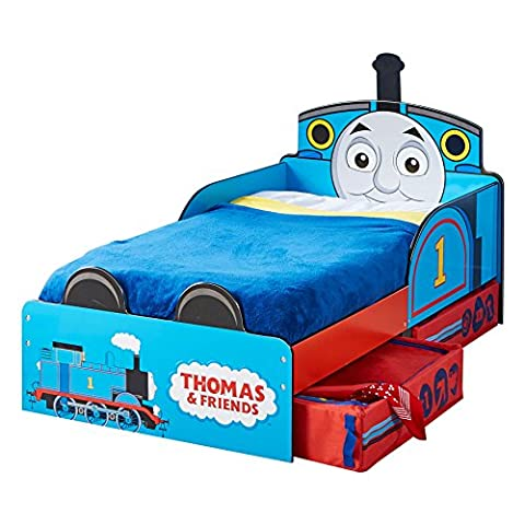 Thomas the Tank Engine Kids Toddler Bed with Underbed Storage