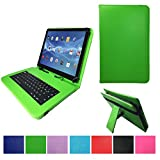 Deutsche tastiera QWERTZ per Odys Pace 10+ LTE Tablet PC Custodia con tastiera Touch Pen–10.1pollici Verde
