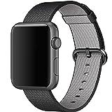 Banda de reloj de Apple, Yafeite Banda de muñeca de reemplazo de correa de nylon tejida fino para Apple Watch Series 2 y Series 1 Todos los modelos (3
