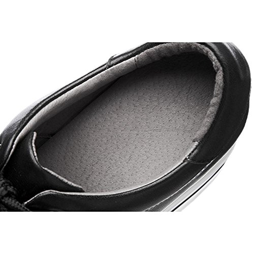 Chaussures à Plateformes Femme WSXY-A0520 Creepers Baskets en Processus de Broderie de Fleurs,KJJDE black