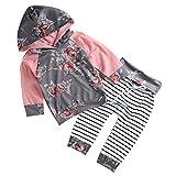Chicolife Il cappotto a maniche lunghe stampato fiore floreale neonato imposta le abiti da sera