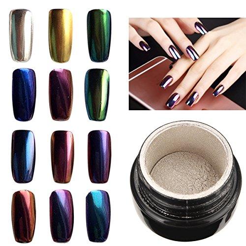 Bluelover 10 Farben Zu Wählen Magic Mirror Chrome Effekt Metallic Powder Additive Pigment Nail Art -12