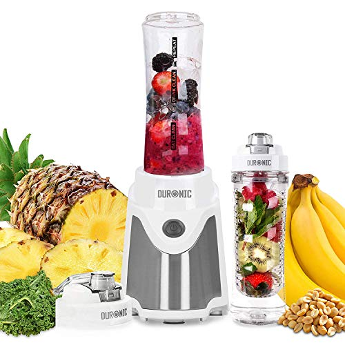 Duronic BL505 Batidora Smoothie Individual de 500W con 2 Botellas Reutilizables de 600 ml...