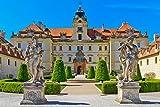 lunaprint Way to Valtice Castle with Statues Liechtenstein