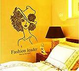 QTXINGMU Romantische Schönheit Portrait Wall Sticker Flur Schlafzimmer Sofa Wohnzimmer Tv Hintergrund Dekorative Wand Aufkleber