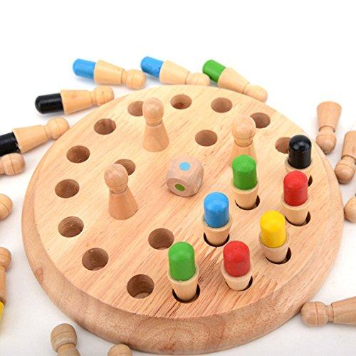 TOYMYTOY Ajedrez de palo de madera juego de memoria Niños educación puzzle 3D aprendizaje regalo juguete