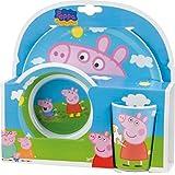 Peppa Pig 748690 - 3-teilig Set aus Melamin, 27 x 9 x 26 cm
