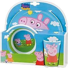 BBS GO ON - Vajilla infantil, 3 piezas, estampada Peppa Pig