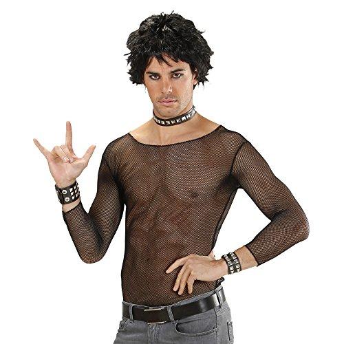 Widmann 7578M, Schwarzes Netzshirt oder T-Shirt für Herren in Größe M/L = 50/54 zu Partys oder ()
