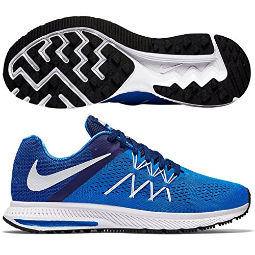 Nike Herren Zoom Winflo 3 Laufschuhe Photo Blue/Deep Royal Blue/White