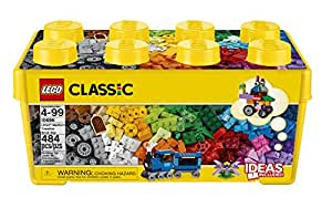 LEGO 10696 Classic Medium Creative Brick Box, Easy Toy Storage, Lego Masters Fan Gift