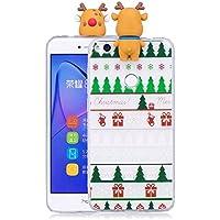 Everainy Huawei P8 Lite 2017 Silikon Hülle 3D Weihnachts dünn Durchsichtig Hüllen Handyhülle Gummi Huawei P8 Lite... preisvergleich bei billige-tabletten.eu
