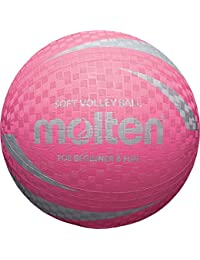 Molten s2v1250-p Surface douce anti - dérapant & NON ficelle caoutchouc Rose Volley-ball NEUF