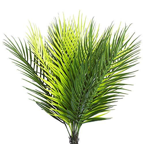 flanzen, Grün, Palme, Tropenbaum, künstliche Palmenfronten, künstliche Blumen, Grün für Zuhause, Küche, Party, Arrangement, Hochzeit, Dekoration, 2 Stück Palm Tree ()