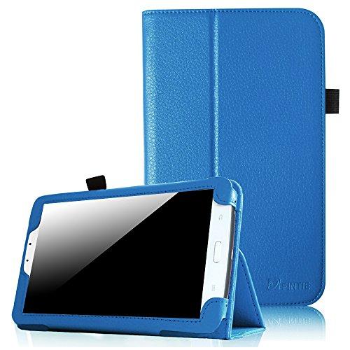Fintie Samsung Galaxy Tab 3 7.0 (7 Zoll) SM-T210 SM-T211 Hülle Case - Slim Fit Folio Bookstyle Kunstleder Schutzhülle Cover Tasche mit Ständerfunktion und Stylus-Halterung, Blau