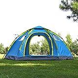ZZPEO 6-8 Personnes Tente De Camping Grand Automatique avec 2 Porte 4 Fenêtre Anti-UV Tente De Yourte Mongole Grand Espace Tente Extérieure