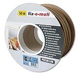 fix-o-moll P-Profildichtung Bobin 50 m 5,5 x 9 mm selbstklebend braun, 3585256
