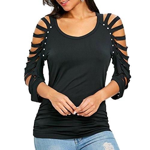 JUTOO Womens Fashion ausverkauft Sicke O-Ausschnitt T-Shirt Oberteile