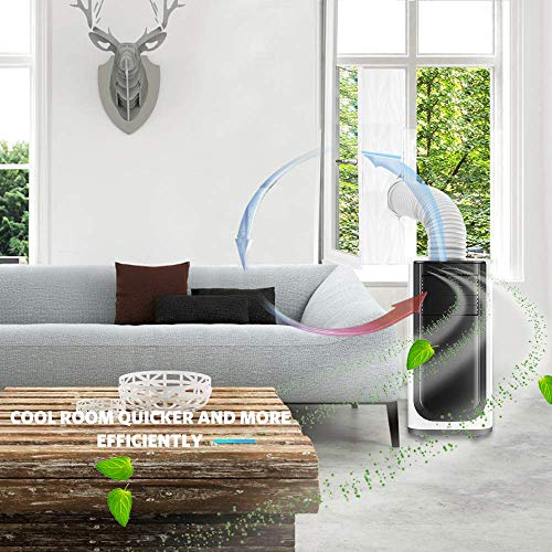 AGPTEK 400CM Aislamiento Ventanas para Aire Acondicionado Móvil y Secadora,  Sello de Ventanas Impermeable,  Anti UV,  Anti- Mosquitos,  con Dual Cremallera