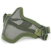 Coxeer Metal Acero Airsoft Máscaras Wargame Protección del Equipo (dos cinturón ...