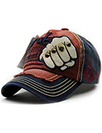 Handcuffs Stylish Cotton Baseball Adjustable Navy Blue Cap For Men/Women