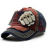 #1: Handcuffs Stylish Cotton Baseball Adjustable Navy Blue Cap For Men/Women