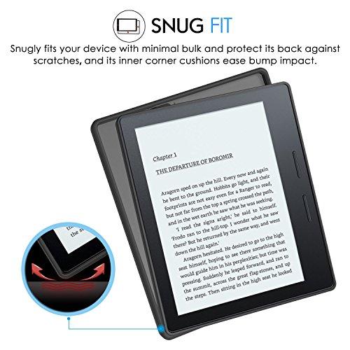 MoKo Etui Amazon Kindle Oasis- Coque Premium Flexible TPU pour Amazon Nouveau Kindle Oasis (8ème génération,modèle 2016), NOIR Noir