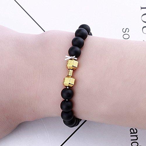 HRCxue der Republik Korea jungen Armband koreanische Version der Männer von der Flut von personalisierten Straße weightlifting Kurzhantel retro Schleifen kies Perlen Armbänder Geschenk (Straße Armband)