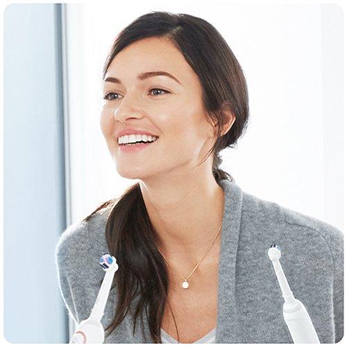Oral-B Genius 9000N - Cepillo de dientes eléctrico, 6 modos, Bluetooth, 4 cabezales, estuche con USB, color oro rosa