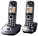 PANASONIC - TELEFONO INALAMBRICO DIGITAL DECT PANASONIC KX-TG2512SPM, DUO, GRIS METALICO
